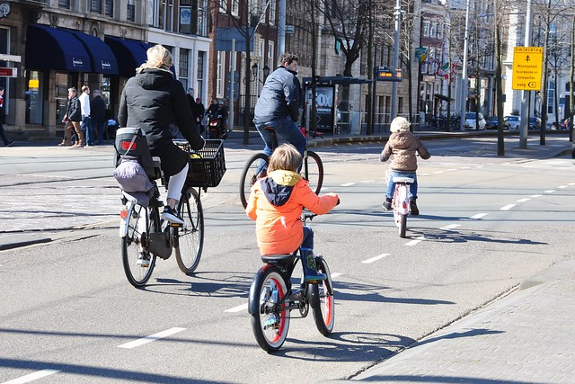 La Haye - Cycling with kids