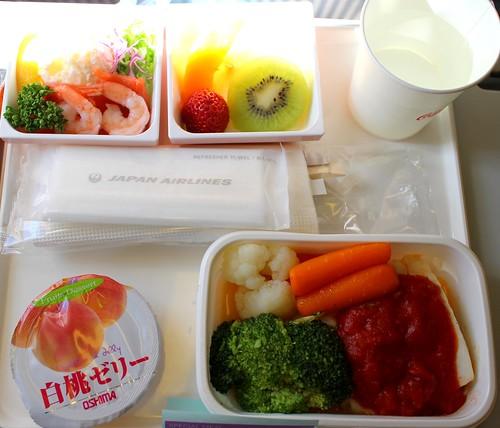 JAL。海鮮飛機餐。大阪到桃園