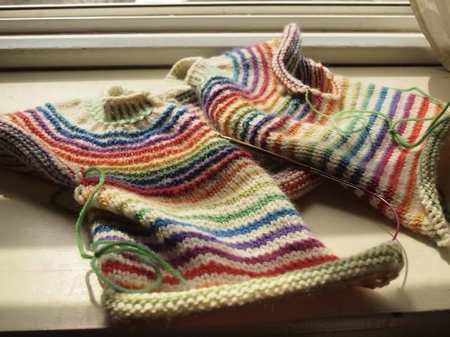 Stripes! cardigan-in-progress