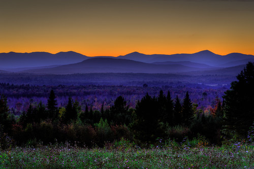 sunset usa mountains maine scenic fallfoliage wildflowers bluehour hdr highdynamicrange solon orangeandblue somersetcounty robbinshillscenicarea oldcanadaroadnationalscenicbyway