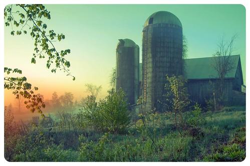 fog sunrise spring farm nh silo boscawen