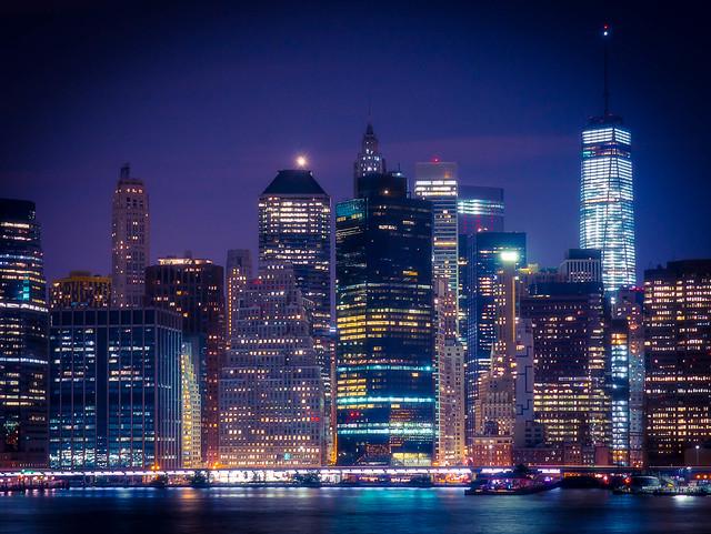 Manhattan Night from Brooklyn Heights