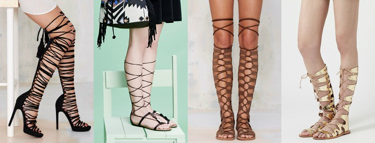 Collage Gladiator sandals3