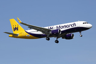 9 avril 2015 - MONARCH  AIRLINES - Airbus  A 320 WL  F-WWDS  msn 6550 - LFBO - TLS