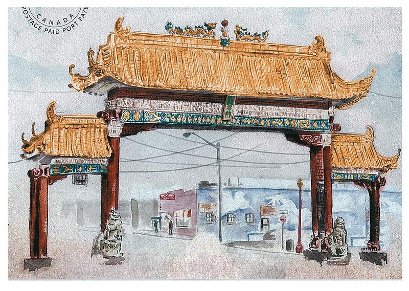 Canada - chinatown gate - Edmonton