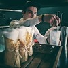 "Barman Vako Ghonghadze making ""Sweet Ice"" cocktail on barmen competition, Mamont's presentation.  #Tbilisi #Georgia #mamontvodka #mamont #barman #competition #cocktails #sweetice #vodka #bar #cafe #Georgian #bohema #smoke"