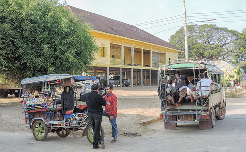 School busses, That Phanom, Thailand