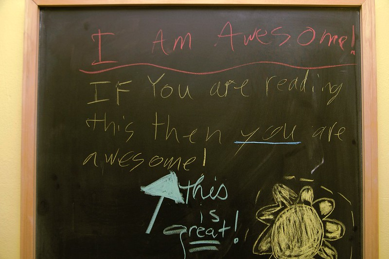117/365. new family chalkboard yields insights.
