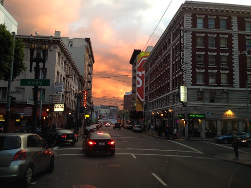 sanfrancisco california sunset usa america downtown 日落 美國 加州