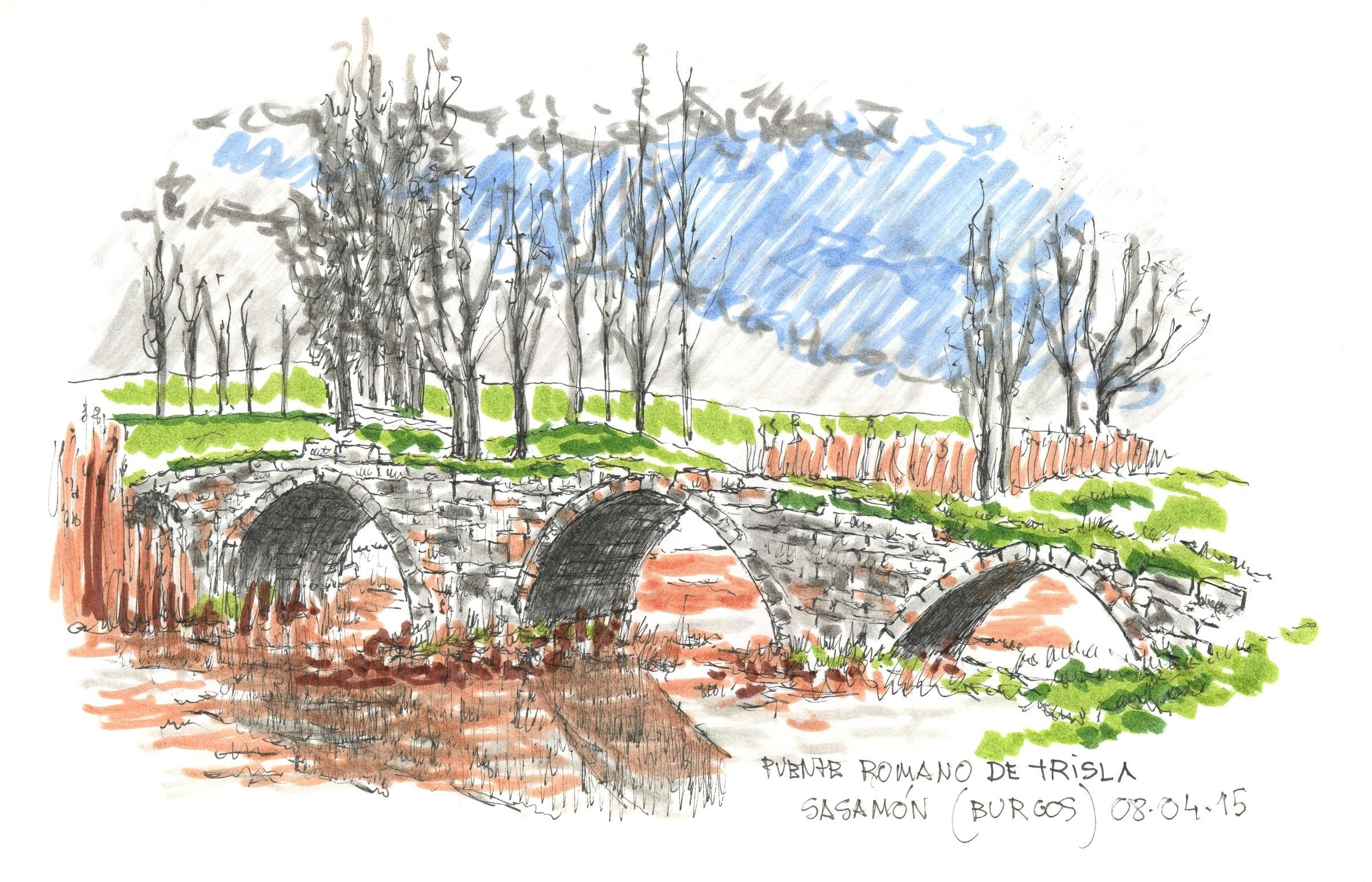 Puente romano de Trisla en Sasamón (Burgos)