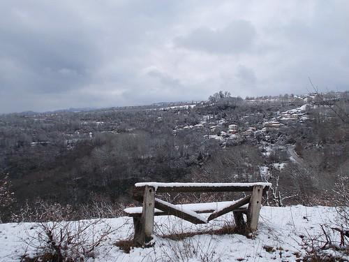 χιόνια θέα παγκάκι χειμώνασ άγιοσηλίασ