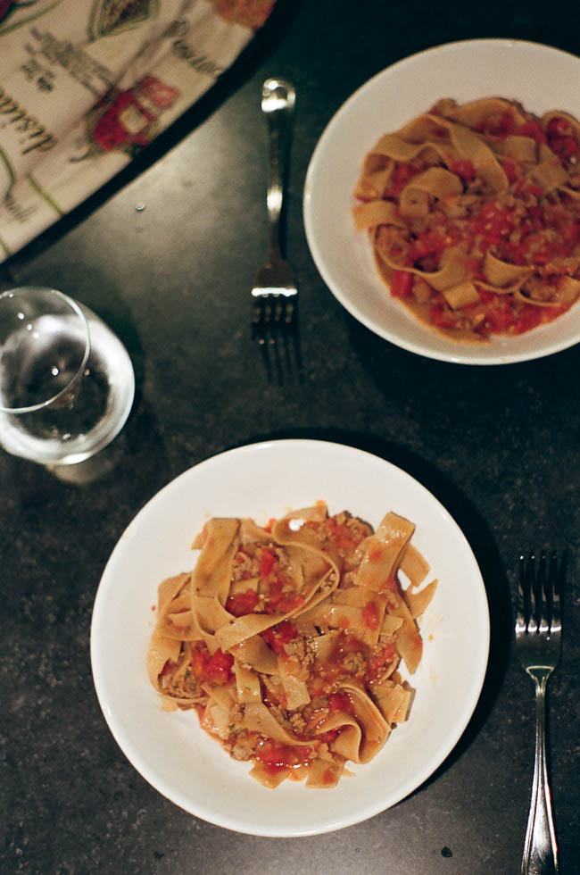Pappardelle Bolognese | love youa blog