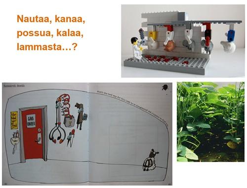 Slide ruokateemaisesta työpajasta, kevät 2014