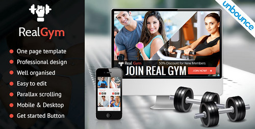 RealGym - Unbounce Health Fitness Landing Page (Unbounce Landing Pages)