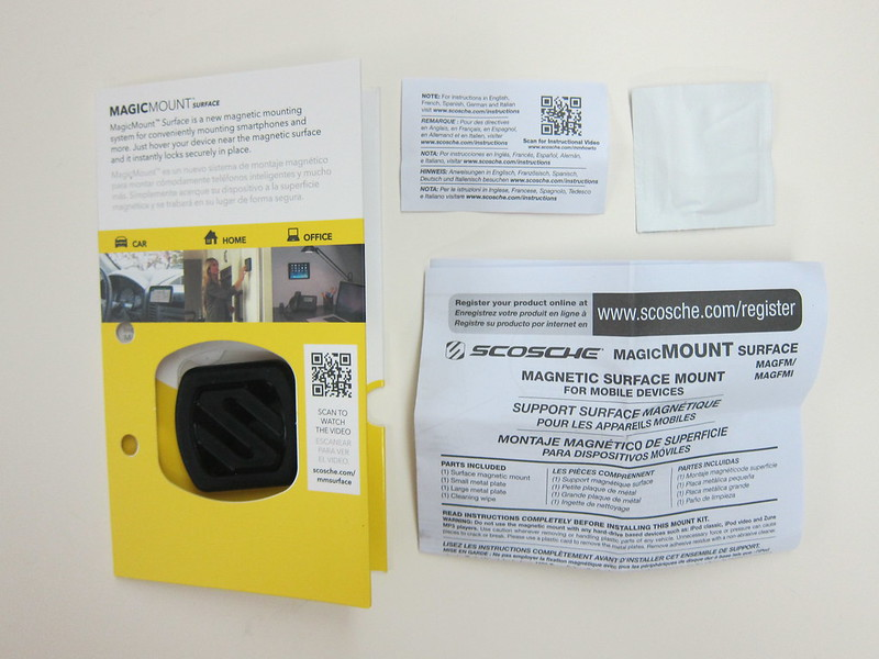 Scosche MagicMount Surface- Packaging Contents