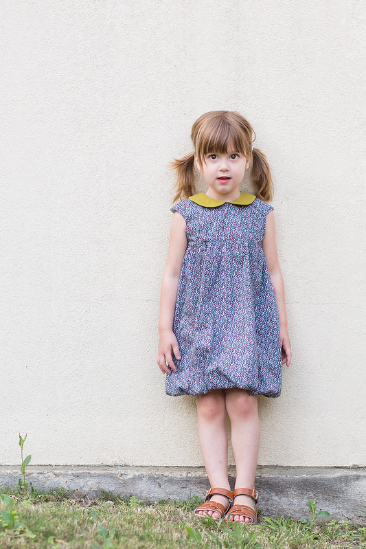 O+S Bubble Dress + Peter Pan collar