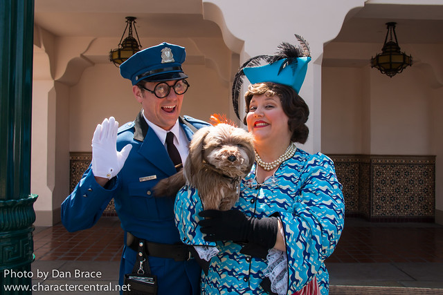 Officer Calvin Blue and Donna the Dog Lady
