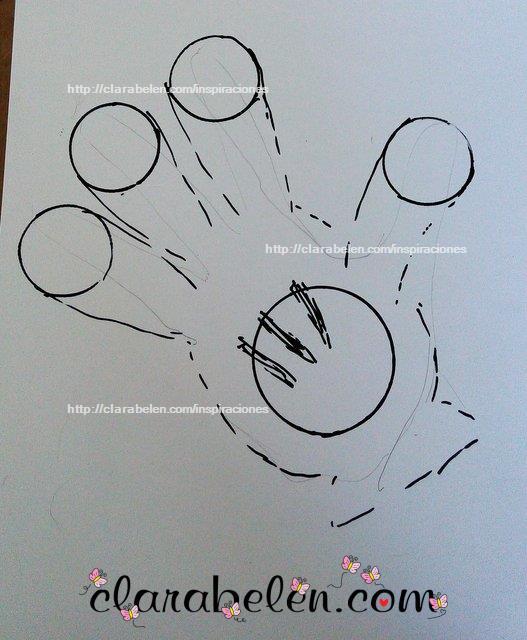 Como dibujar el guante de Mickey Mouse