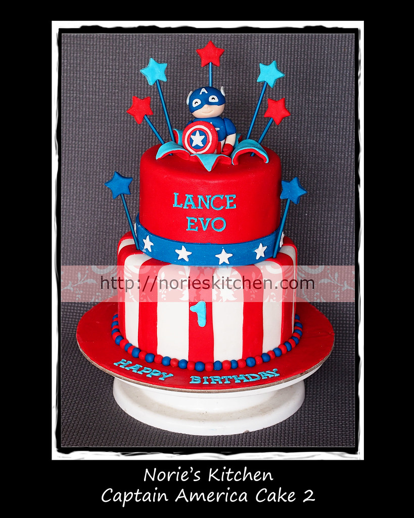 Captain America Nories Kitchen Custom Cakes