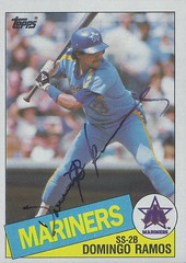 1985 Topps - Domingo Ramos #349 (Infielder) - Autographed Baseball Card (Seattle Mariners)