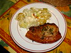 Theo Randall's pork chops with potato and leek al forno