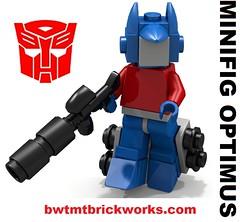 Lego Minifig Optimus Prime by BWTMT Brickworks