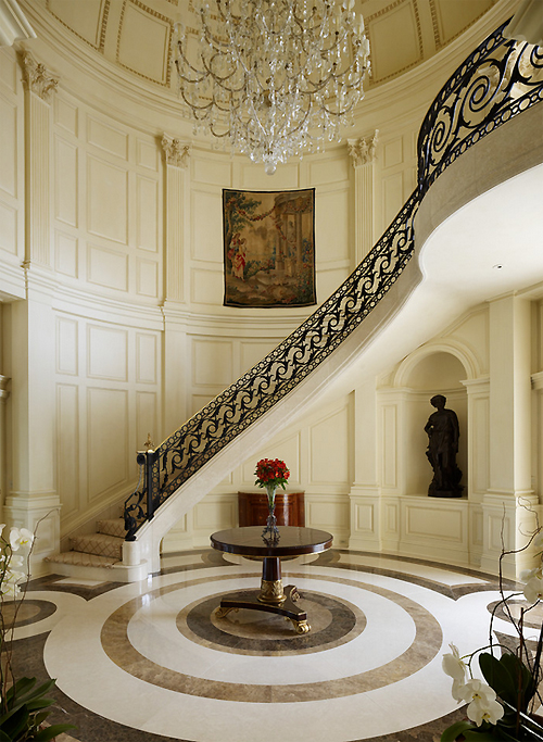 luxury staircase hallway interiors