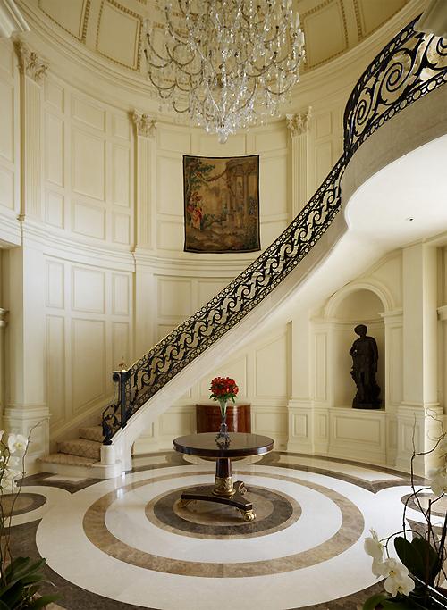 luxury staircase hallway interiors