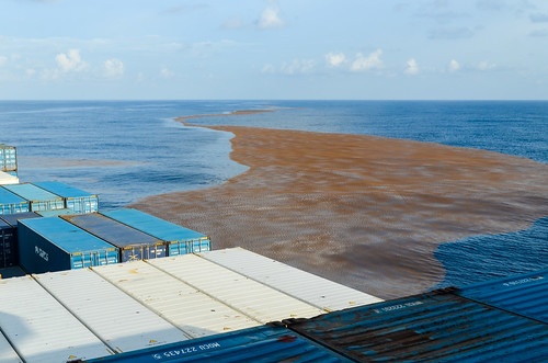 Dirty sea while sailing off the Arquipélago dos Bijagós, Guinea-Bissau