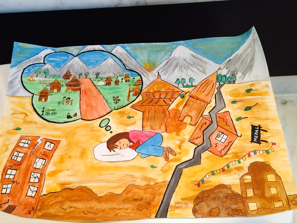 Kamakshi Bhavani Drawing For Nepal Earthquake 2015 Flickr