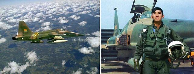 VNAF F-5E Skoshi Tiger & a VNAF F-5 pilot
