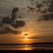 Upper Myakka Lake at sunset by devilspotato