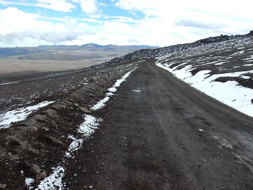 Descente du volcan Chimborazo à vélo. Et c'est partiiii !!