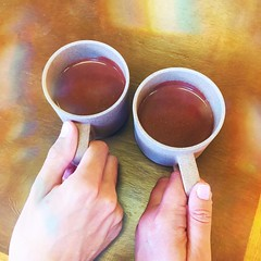 Feeling the magic of Himalayan Pink Salt Sipping Chocolate at the @mutarichocolate  popup.  #bettertogether #nommers
