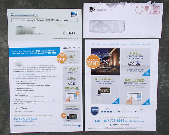 Direct TV junk mail