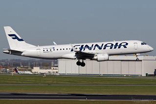 OH-LKF, Finnair Embraer EMB-190, BRU