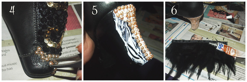 DIY Embellished Shoes Steps 4-6
