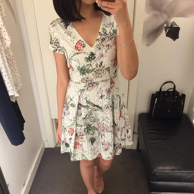 Ann Taylor Floral Eyelet Dress, size 00P