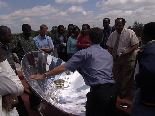 Solarkocherprojekt, Solarkochervorführung # holzvonhier-Energie