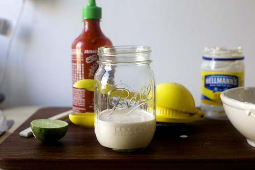lime, sriracha and mayo, don't fight it
