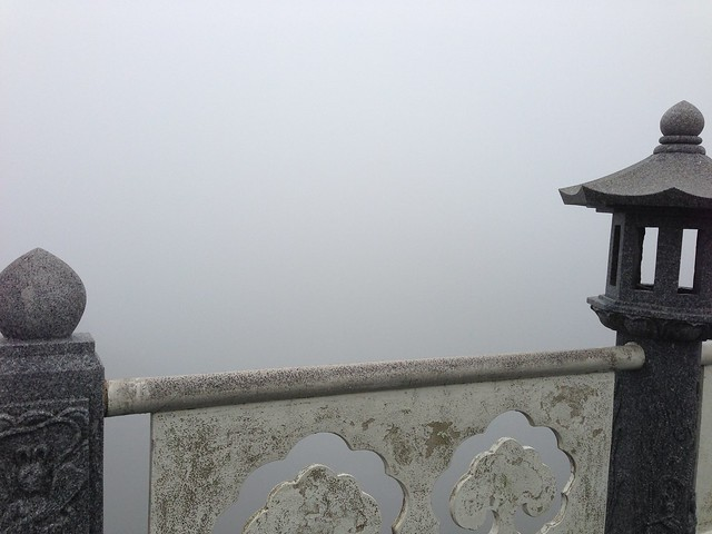 Wall of fog at Seonimgyo Bridge
