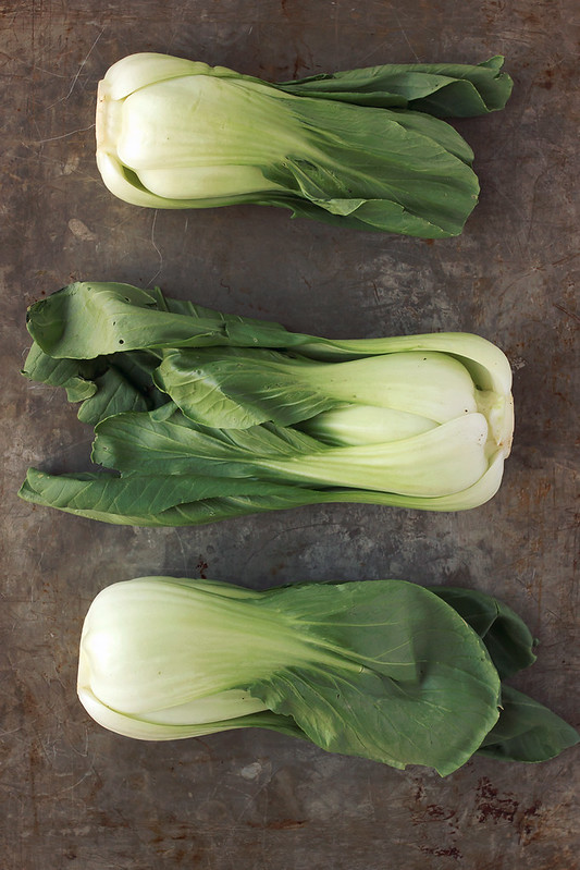 Roasted Baby Bok Choy with Lemon Garlic Cashew Cream