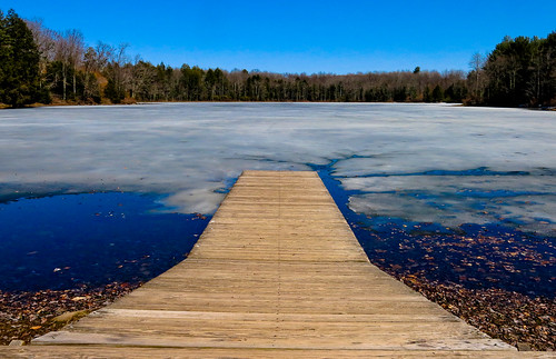 lake ice water landscape spring dock disturbing thaw odc canong15