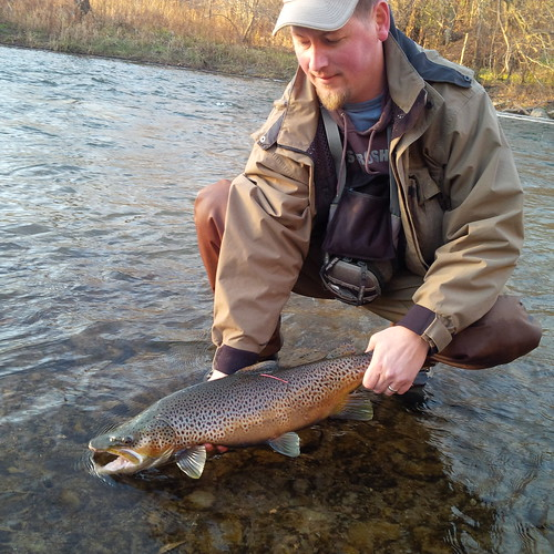 Joe with a migratory brown trout
