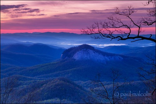 morning blue usa mountains sunrise magenta northcarolina hdr blueridgeparkway lookingglassrock 3xp