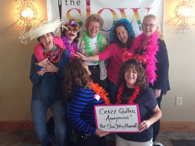 Crazy Quilters at the Slow Stitching Retreat