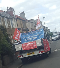 RISE Van in Edinburgh Drylaw on Polling Day. Scottish Elections, 5th May 2016