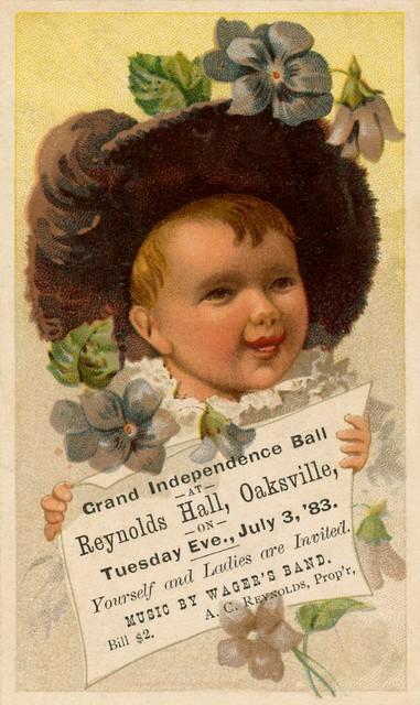 Grand Independence Ball, Oaksville, New York, July 3, 1883