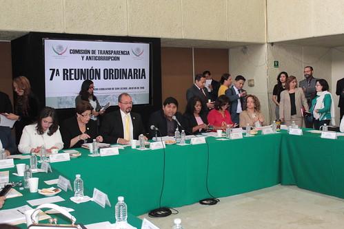 El día 6 de julio se llevó a cabo en la H. Cámara de Diputados la séptima reunión ordinaria de la Comisión de Transparencia y Antocorrupción.