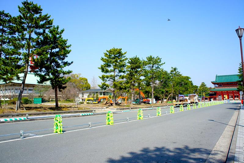 岡崎公園 再整備工事/平安神宮(Heian-jingu Shrine / Kyoto City) 2015/03/17